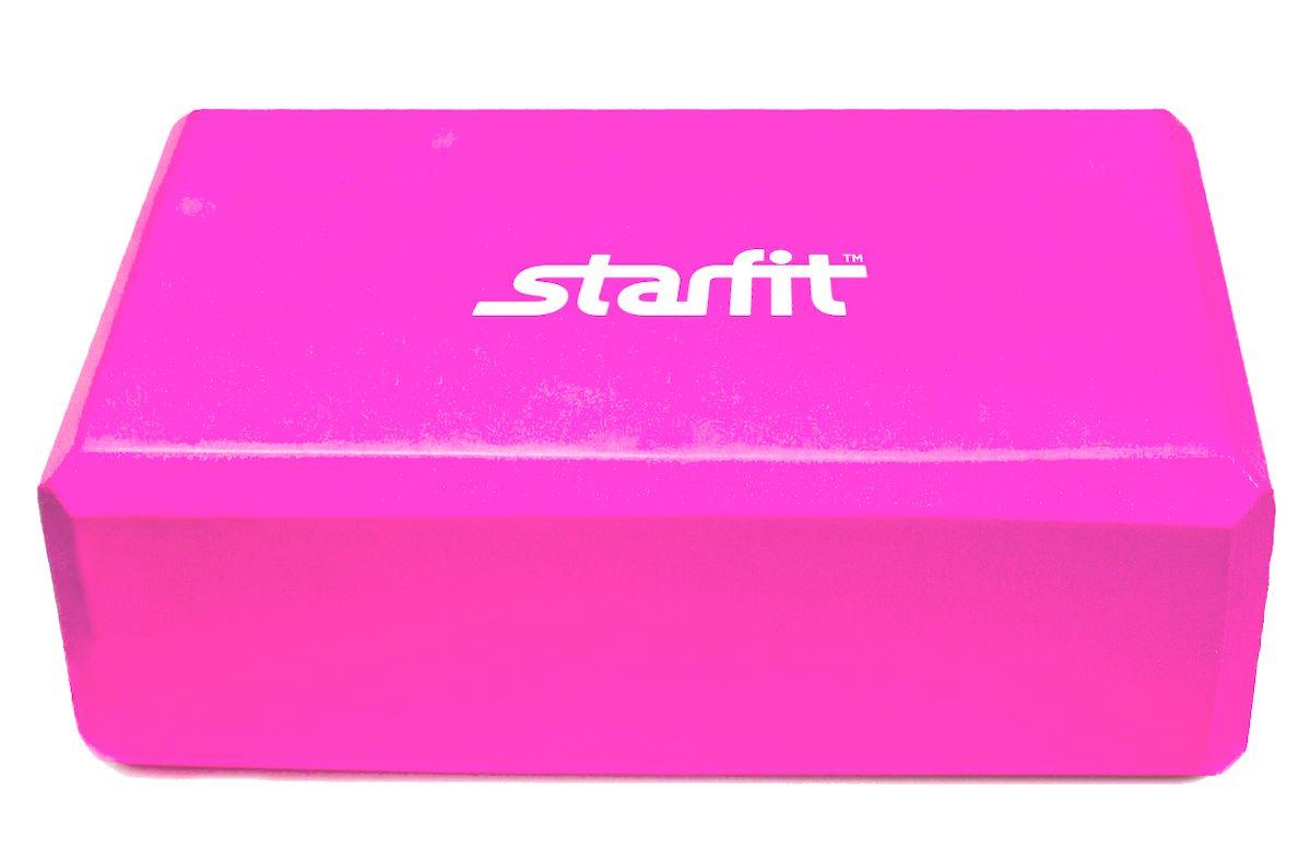 Блок для йоги Starfit FA-101, цвет: розовый, 22,5 х 15 х 7,8 см бедра 101 см какой размер