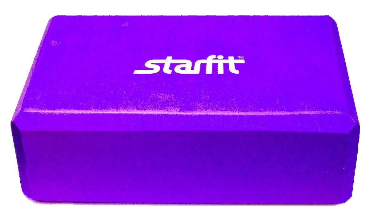 Блок для йоги Starfit FA-101, цвет: фиолетовый, 22,5 х 15 х 7,8 смУТ-00008669Блок FA-101 - это опорный блок для занятий йогой от популярного австралийского бренда Star Fit, который используется как новичками, так и продвинутыми пользователями. Изделие обеспечивает надежную опору и фиксацию в различных позах. При выполнении позиций стоя и в сидячих скручиваниях блоки применяются в том случае, если вы не можете дотянуться руками до пола. Важной особенностью является возможность переворачивания блока различными сторонами (на торец, на узкую или на широкую сторону) в зависимости от потребностей практики. Блок помогает укрепить и разработать группы мышц.Порадуйте себя качественным и полезным тренажером.Размер блока: 22,5 х 15 х 7,8 см.Вес: 119 г.
