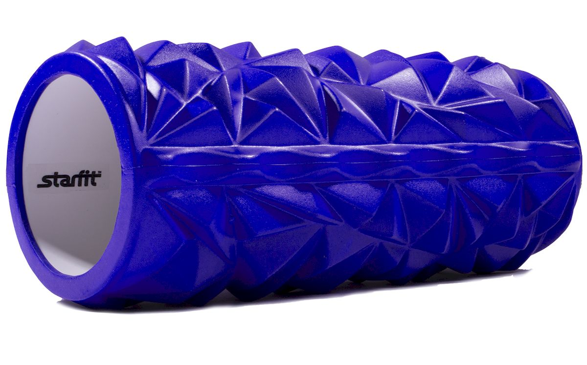 Ролик массажный Starfit FA-504, цвет: синий, 33 х 14 х 14 см петля резиновая starfit es 801 цвет зеленый 208 х 1 3 х 0 5 см