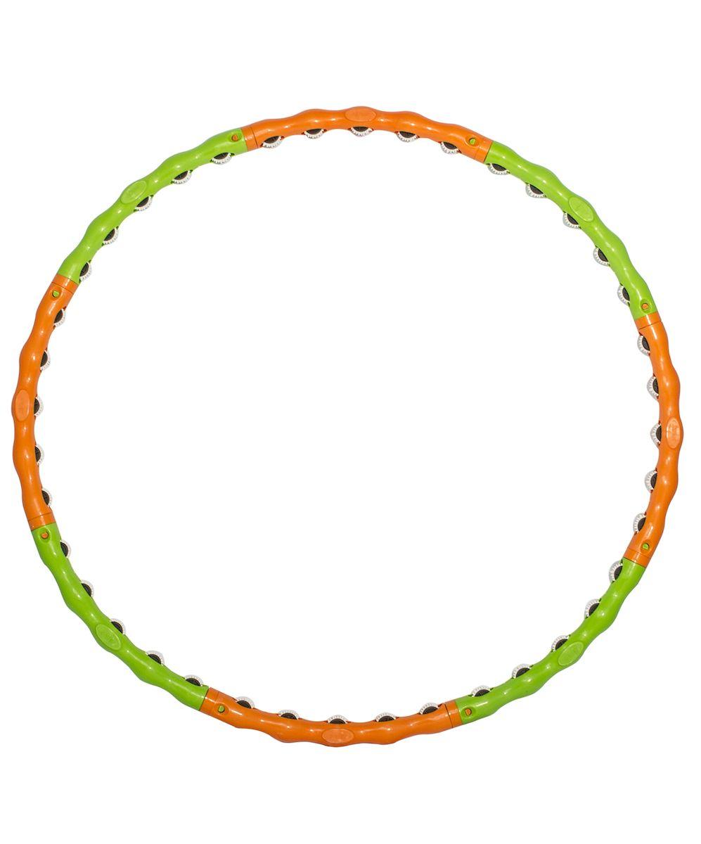 Обруч массажный Starfit, разборный, цвет: зеленый, оранжевый, диаметр 98 смУТ-00008294Star Fit - это массажный разборный обруч от популярного австралийского бренда. Обруч легко собирается и разбирается. Диаметр регулируется, благодаря чему обруч подходит взрослым и детям. Упражнения с этим обручем сжигают больше калорий, чем с обычным. Улучшается кровообращение, усиливается мышечный тонус, что приводит к более активному сжиганию жира.Массажный обруч развивает координацию движений, гибкость, силу, чувство ритма, артистичность, укрепляет вестибулярный аппарат. Сжигает подкожный жир в проблемных участках тела, улучшает состояние кожи в области талии, живота и бёдер. Нормализует работу кишечника. Тренирует и развивает мышцы рук, плеч, спины и ног.С помощью обруча можно выполнять большое количество упражнений из гимнастики, и упражнений на растяжку. Массажный обруч удобен и прост в использовании. Не требует особых знаний и места для занятий.Достаточно вращать обруч 10-20 минут в день и таким образом фигура изменится в положительную сторону.
