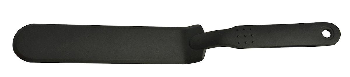 """Лопатка сервировочная гибкая Regent Inox """"Nero"""" - без кулинарной лопатки не может обойтись ни одна хозяйка. Гибкая лопатка NERO изготовлена из нейлона. На ручке имеется небольшое отверстие, за которое изделие можно подвесить в любом удобном для вас месте. Удлиненная форма посуды создана для того, чтобы аккуратно положить на тарелку кусок пирога или перевернуть жареное блюдо. Эргономичная ручка обеспечивает крепкий хват и комфорт во время использования. Кухонный аксессуар делает готовку удобным и приятным процессом. Лопатку можно без труда помыть как ручным способом, так и в посудомоечной машине."""