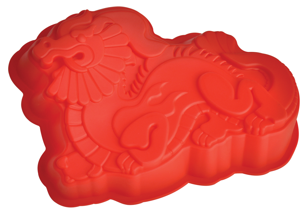 Форма для выпечки Regent Inox Дракон, 20 x 14 х 4 см93-SI-FO-102Возможно, вам когда-нибудь хотелось приручить дракона! Теперь вы можете осуществить свою мечту, купив себе ручного дракона в виде силиконовой формы Regent Inox. С помощью этого изделия любой день можно превратить в праздник и порадовать детей. Форма выдерживает жар и холод (от -40°С до +230°С). Ни один карапуз не откажется от такого лакомства. Форма из экологически чистого силикона очень удобна в эксплуатации, практична и долговечна. Посуда станет верным помощником для выпечки вкусных изделий на вашей кухне.