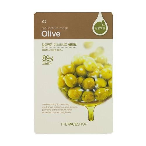 The Face Shop Real Nature Тканевая маска для лица с экстрактом оливы, 20 гУТ000001785Real Natural Olive Mask Sheet - Тканевая маска с экстрактом оливы увлажняет, смягчает и питает кожу, возвращает ей нежность и ухоженный вид. Экстракт оливы богат необходимыми коже витаминами, микроэлементами и жирными кислотами, он насыщает клетки кожи, восстанавливает естественный водный баланс тканей, оздоравливает и омолаживает, защищает кожу от вредного воздействия среды. Также в состав маски входит минеральная вода - источник минералов и солей для кожи.