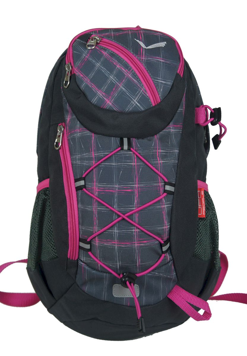 Рюкзак спортивный UFO people, цвет: черно-серый. 15 л. 4763 ufo people рюкзак школьный цвет розовый