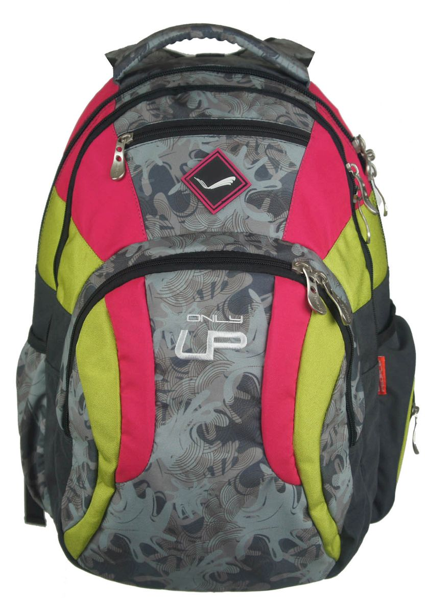 Рюкзак городской UFO people, цвет: черно-розовый. 21 л. 4777