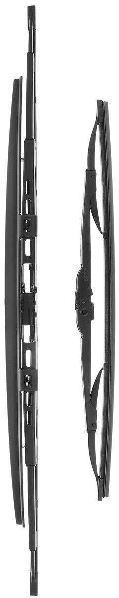 Щетка стеклоочистителя Bosch 601S, каркасная, со спойлером, длина 40/60 см, 2 шт3397010297Комплект Bosch 601S состоит из двух щеток разной длины, выполненных посовременной технологии извысококачественныхматериалов. Они обеспечивает идеальнуюочистку стекла в любую погоду.TWIN Spoiler - серия классических каркасных щеток со спойлером от компанииBosch. Эти щетки имеют полностью металлический каркас с двойной защитой откоррозии и сверхточный профиль резинового элемента с двумя чистящимикромками. Спойлер выполнен в виде крыла, который закрывает каркас щетки отвоздушного потока.Комплектация: 2 шт.Длина щеток: 40 см; 60 см.