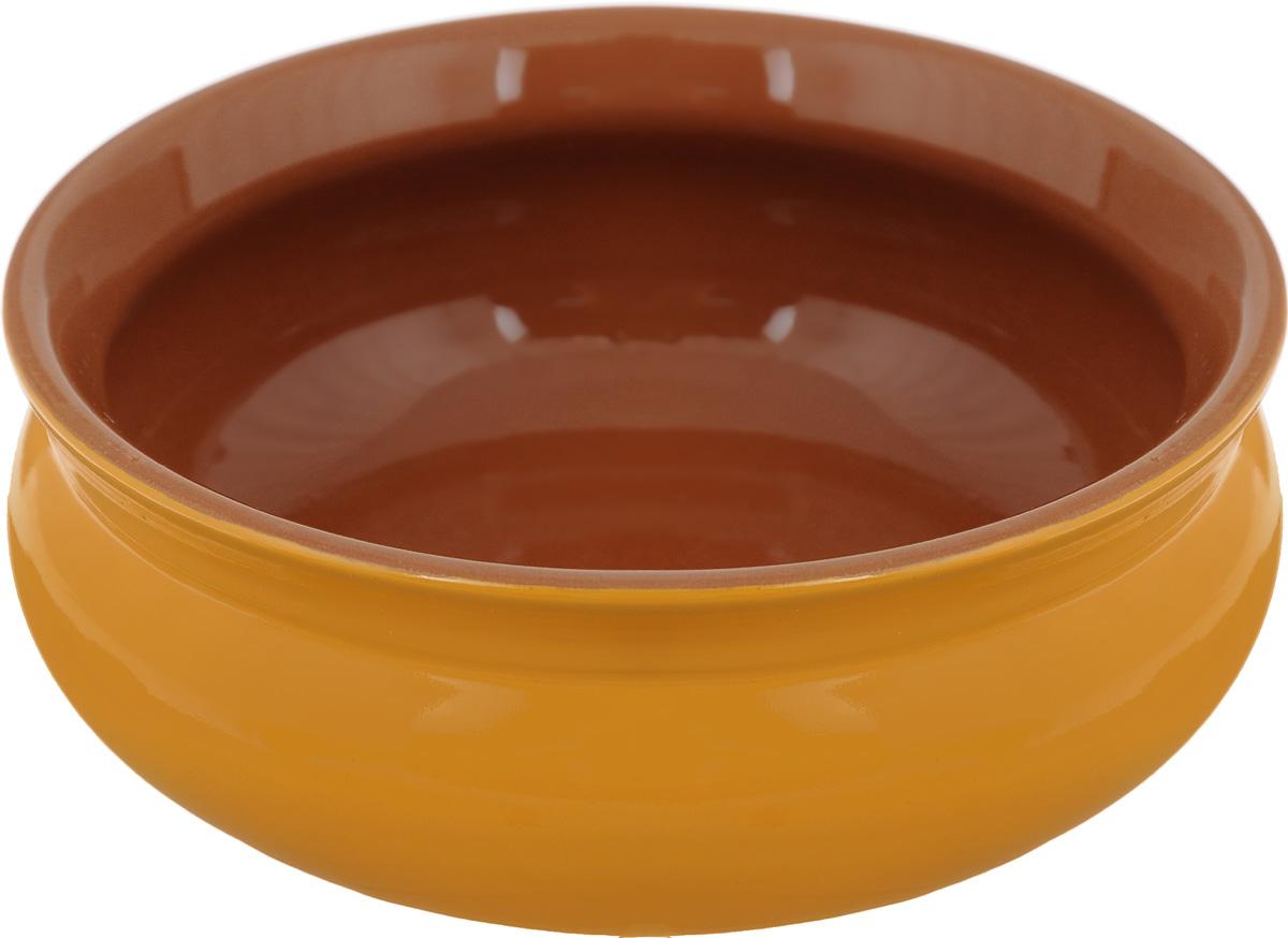 Тарелка глубокая Борисовская керамика Скифская, цвет: горчичный, 500 млРАД14458194_горчичныйГлубокая тарелка Борисовская керамика Скифская выполнена из керамики. Изделие сочетает в себе изысканный дизайн с максимальной функциональностью. Она прекрасно впишется в интерьер вашей кухни и станет достойным дополнением к кухонному инвентарю. Такая тарелка подчеркнет прекрасный вкус хозяйки и станет отличным подарком. Можно использовать в духовке и микроволновой печи.Диаметр тарелки (по верхнему краю): 14 см.Объем: 500 мл.