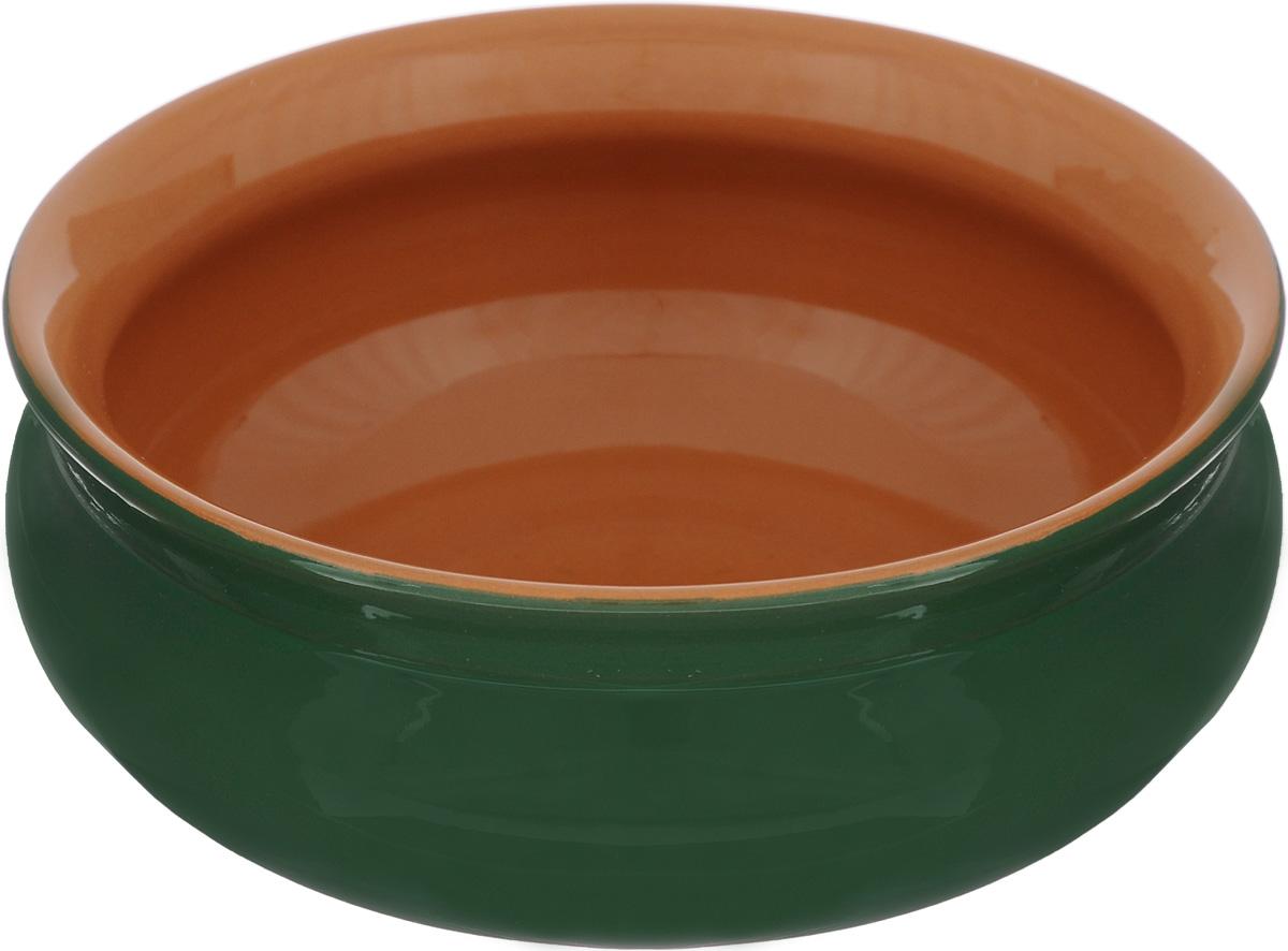 Тарелка глубокая Борисовская керамика Скифская, цвет: зеленый, 500 млРАД14458194_зелёныйГлубокая тарелка Борисовская керамика Скифская выполнена из керамики. Изделие сочетает в себе изысканный дизайн с максимальной функциональностью. Она прекрасно впишется в интерьер вашей кухни и станет достойным дополнением к кухонному инвентарю. Такая тарелка подчеркнет прекрасный вкус хозяйки и станет отличным подарком. Можно использовать в духовке и микроволновой печи.Диаметр тарелки (по верхнему краю): 14 см.Объем: 500 мл.