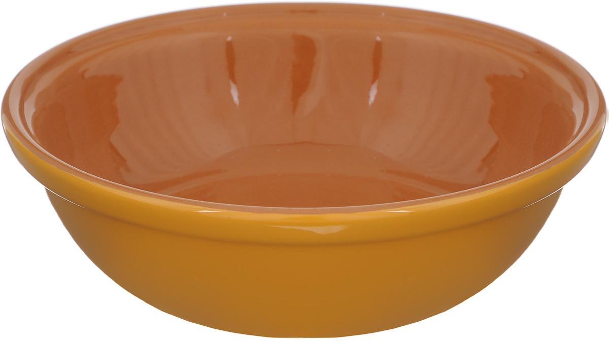Салатник Борисовская керамика Модерн, цвет: желто-оранжевый, коричневый, 500 млРАД14456945_желто-оранжевый, коричневыйСалатник Борисовская керамика Модерн выполнен из высококачественной керамики. Он придется по вкусу каждому и порадует вас и ваших близких. Салатник Борисовская керамика Модерн идеально подойдет для сервировкистола и станет отличным подарком к любому празднику.Можно использовать в духовке и микроволновой печи. Диаметр (по верхнему краю): 17,5 см.Высота: 5,5 см.Объем: 500 мл.