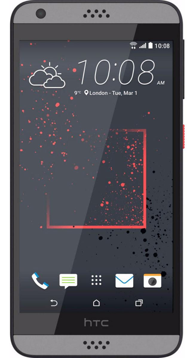 HTC Desire 630 DS, Dark Grey99HAJM006-00Представляем HTC Desire 630 dual sim. Смартфон, который заметят окружающие: эффектные цветовые решения корпуса, внушительные аудио характеристики и отличные фронтальная и основная камеры.Корпус устройства, выполненный из материала soft-touch, ребристая кнопка включения, крепление для ремешка на руку делают изделие исключительно удобным в использовании. Наличие двух SIM-карт позволит разделить рабочие и личные звонки.Выпускные балы, решающие голы, яркие эмоции на аттракционах - нередко бывает тяжело поймать тот самый незабываемый кадр. С HTC Desire 630 dual sim снимать легко и просто: все технические задачи решены, и тебе остается просто нажать кнопку спуска.Основная камера 13Мпикс поможет снимать отличные фото и видео. При необходимости фото можно отредактировать во встроенном Фоторедакторе, а также при желании добавить фотоэффекты - например, применить Двойную экспозицию.С HTC Desire 630 dual sim ты не упустишь ни один удачный кадр. Если в процессе съемки смартфон вошел в режим ожидания, просто нажми на кнопку Питания. Это снова активирует приложение Камера, при этом тебе не нужно будет вводить пароль, который, возможно, был активирован на устройстве. Просто сосредоточься на снимках!Наушники, сертифицированные Hi-Res Audio (входят в поставку), выполнены из специального акустического термопластика. Размер диффузора увеличен, что позволяет добиться более высокого богатого звучания. Звуковой профиль HTC BoomSound с Dolby Audio выводит звук в музыке, фильмах и играх на совершенно новый уровень: чистая передача вокала, глубокие басы и воспроизведение самых мельчайших деталей.Сертифицированный звук Hi-Res Audio высокого разрешения превосходит по качеству звучания CD-записи. С высоким качеством воспроизведения твои музыкальные треки и фильмы зазвучат по-новому: в полном объеме, без потери качества.В HTC Desire 630 dual sim реализована поддержка двух SIM-карт. А это означает, что ты сможешь разделять рабочие и личные контакты или , н