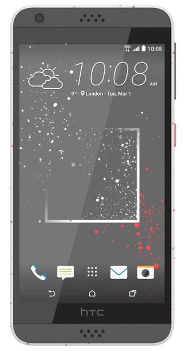 HTC Desire 630 DS, Sprinkle White99HAJM008-00Представляем HTC Desire 630 dual sim. Смартфон, который заметят окружающие: эффектные цветовые решения корпуса, внушительные аудио характеристики и отличные фронтальная и основная камеры.Корпус устройства, выполненный из материала soft-touch, ребристая кнопка включения, крепление для ремешка на руку делают изделие исключительно удобным в использовании. Наличие двух SIM-карт позволит разделить рабочие и личные звонки.Выпускные балы, решающие голы, яркие эмоции на аттракционах - нередко бывает тяжело поймать тот самый незабываемый кадр. С HTC Desire 630 dual sim снимать легко и просто: все технические задачи решены, и тебе остается просто нажать кнопку спуска.Основная камера 13Мпикс поможет снимать отличные фото и видео. При необходимости фото можно отредактировать во встроенном Фоторедакторе, а также при желании добавить фотоэффекты - например, применить Двойную экспозицию.С HTC Desire 630 dual sim ты не упустишь ни один удачный кадр. Если в процессе съемки смартфон вошел в режим ожидания, просто нажми на кнопку Питания. Это снова активирует приложение Камера, при этом тебе не нужно будет вводить пароль, который, возможно, был активирован на устройстве. Просто сосредоточься на снимках!Наушники, сертифицированные Hi-Res Audio (входят в поставку), выполнены из специального акустического термопластика. Размер диффузора увеличен, что позволяет добиться более высокого богатого звучания. Звуковой профиль HTC BoomSound с Dolby Audio выводит звук в музыке, фильмах и играх на совершенно новый уровень: чистая передача вокала, глубокие басы и воспроизведение самых мельчайших деталей.Сертифицированный звук Hi-Res Audio высокого разрешения превосходит по качеству звучания CD-записи. С высоким качеством воспроизведения твои музыкальные треки и фильмы зазвучат по-новому: в полном объеме, без потери качества.В HTC Desire 630 dual sim реализована поддержка двух SIM-карт. А это означает, что ты сможешь разделять рабочие и личные контакты ил