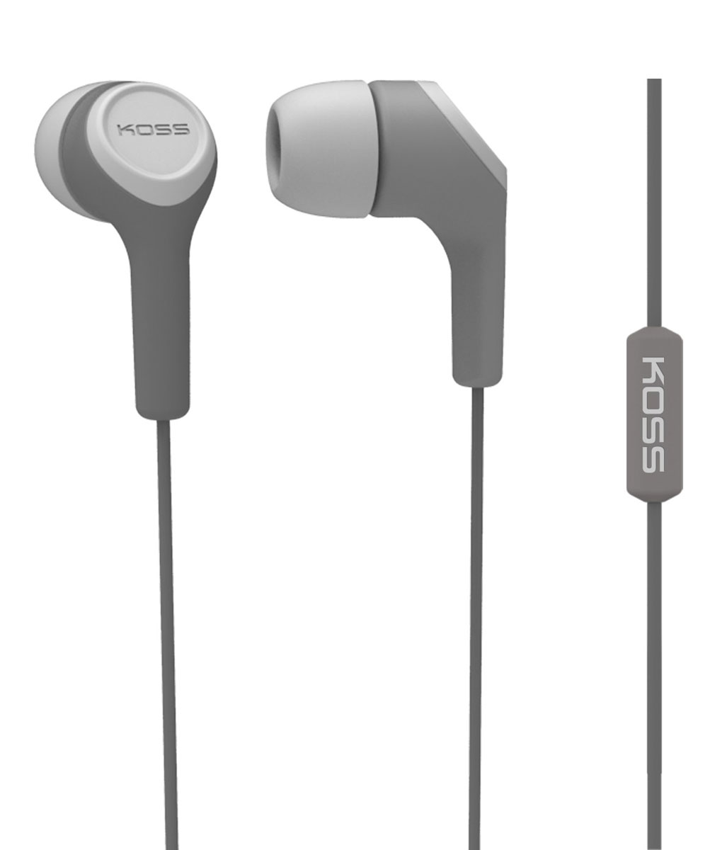 Koss KEB15i, Grey наушники10102303Koss KEB15i - портативные наушники-вставки с функцией гарнитуры, разработанные на базе известной модели KEB15. Модель сочетает в себе стильный дизайн и легендарное качество Koss.Звукоизолирующие силиконовые амбушюры, расположенные под углом к чашкам, обеспечивают высокий уровень звукоизоляции и максимально комфортное прилегание к ушному каналу. Конструкция штекера с полужёстким сочленением увеличивает срок жизни шнура, оберегая его от повреждений.Максимум комфорта, стильный дизайн, большой выбор цветов Удобный штекер с углом 135 градусов Три вида амбушюр в комплекте