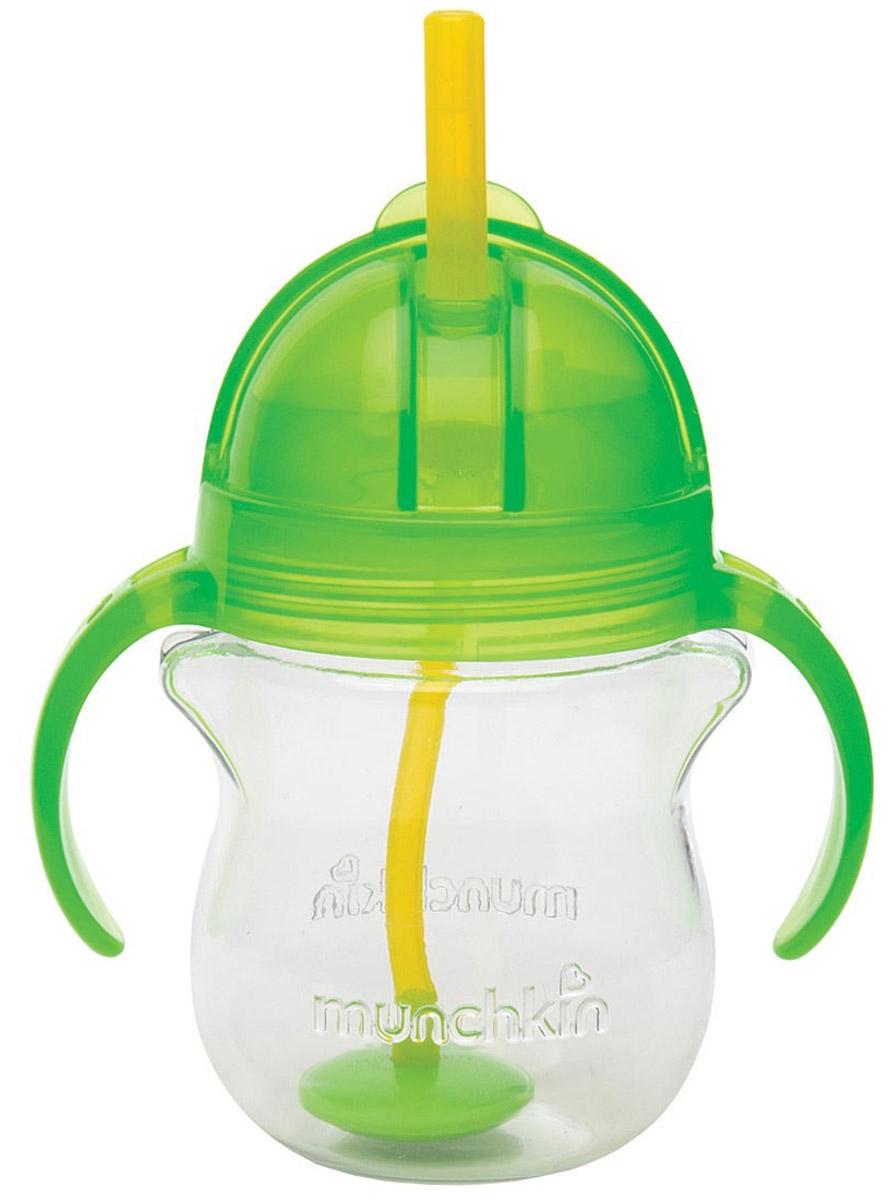 Munchkin Чашка-поильник Click Lock с трубочкой от 6 месяцев цвет салатовый 207 мл поильник munchkin click lock с трубочкой и крышечкой 12 12092 розово салатовый