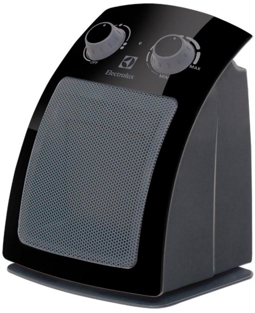 Electrolux 5115C/EFH, Black тепловентиляторEFH/C-5115BlackТепловентилятор Electrolux EFH/C-5115 относится к дизайнерской ART-серии тепловентиляторов компании Electrolux, отличительной чертой которой является инновационный современный дизайн.Важной инновацией новой линейки тепловентиляторов Electrolux явилась их высокая экологичность – все тепловентиляторы Electrolux из ART-серии выполнены из экологически чистых и безопасных материалов, не создающих вреда здоровью человека и окружающей среде. Встроенная защита от перегрева и высококачественные материалы, использованные при производстве тепловентиляторов ART-серии, обеспечивают абсолютную безопасность в процессе эксплуатации.