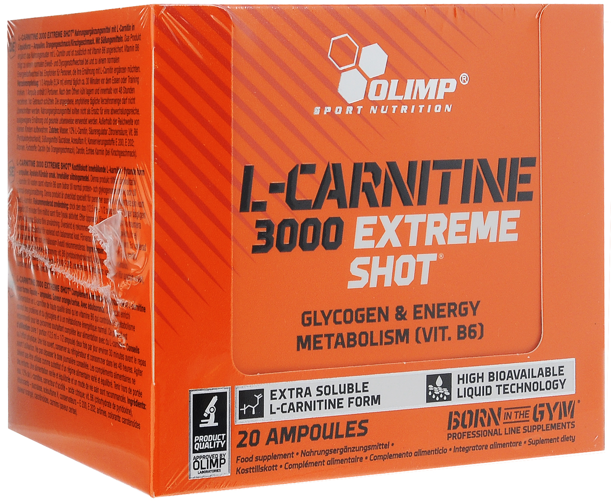 Карнитин Olimp Sport Nutrition L-Carnitine 3000 Extreme Shote, апельсин, 20 х 25 мг