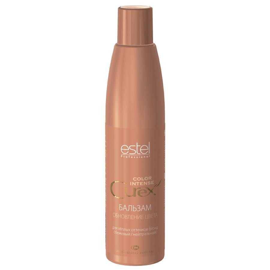 Estel Curex Color Intense Бальзам Обновление цвета для теплых оттенков блонд (бежевый/нейтральный) 250 млCU250/B14Estel Curex Color Intense Бальзам «Обновление цвета» для теплых оттенков блонд (бежевый/нейтральный) придаёт или усиливает бежевые нейтральные оттенки на светлых или осветлённых волосах. Витаминный комплекс обеспечивает активное увлажнение и питание, придаёт волосам эластичность и блеск.В результате ровный красивый оттенок и шелковистые гладкие волосы.