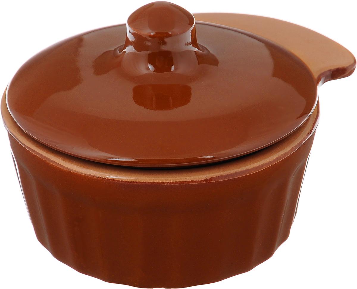 Кокотница Борисовская керамика Ностальгия, цвет: кирпичный, 200 млРАД14457898_кирпичныйГраненая форма кокотницы Борисовская керамика Ностальгия никого не оставляет равнодушным. Она выполнена из высококачественной керамики и оснащена крышкой. В кокотнице можно удобно запекать кексы, делать жульены. Она отлично подойдет для сервировки стола и подачи блюд. Кокотницу можно использовать как порционно, так и для подачи приправ, острых соусов и другого. Подходит для использования в микроволновой печи и духовке. Размер (по верхнему краю): 12 х 10 см. Высота (без учета крышки): 4,5 см.