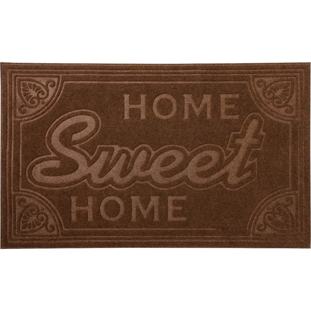 Коврик придверный Vortex Comfort Home Sweet Home, 45 х 75 см22378Ворс коврика Vortex изготовлен из 100% полиэстера. Коврик оснащен выполненной из ПВХ подложкой. Коврик Vortex гармонично впишется в интерьер вашего дома и создаст атмосферу уюта и комфорта. Изделие отлично подойдет как для использования в доме, так и снаружи.