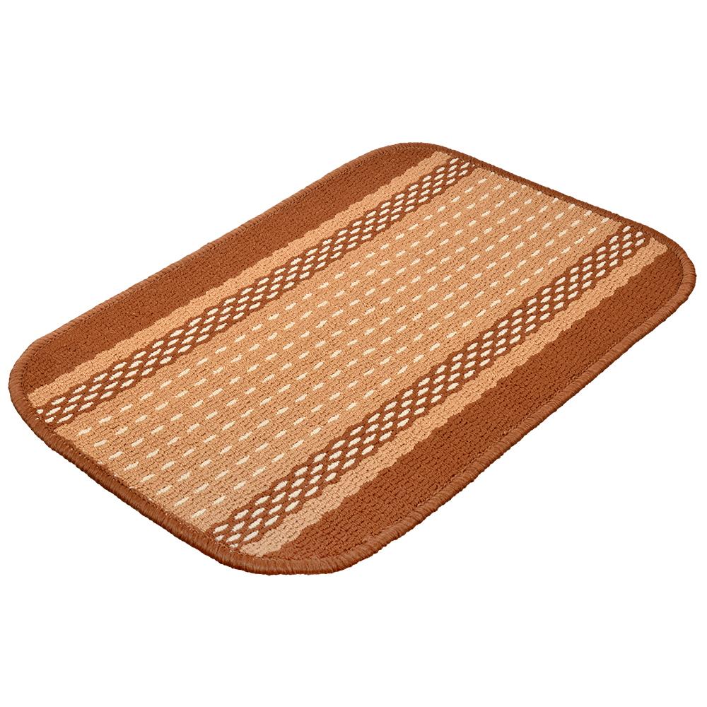 Коврик Vortex Madrid, 40х60 см, цвет: темно-коричневый22442Ворс - 100% Полипропилен. Подложка - 100% латекс.