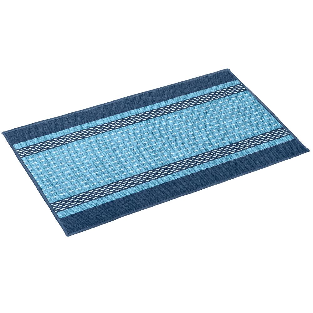 Коврик Vortex Madrid, 50х80 см, цвет: синий22447Ворс - 100% Полипропилен. Подложка - 100% латекс.