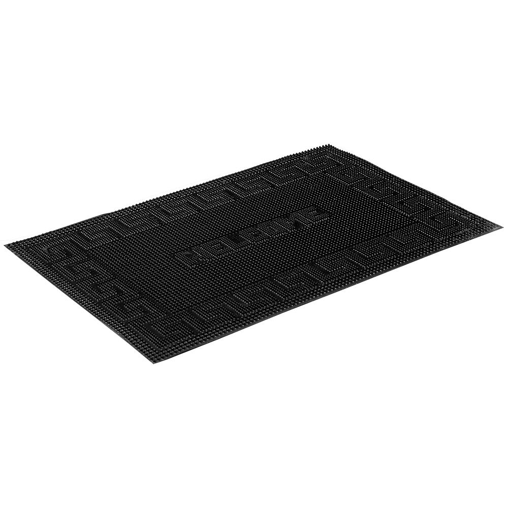 Коврик придверный Vortex Welcome, резиновый, цвет: черный, 40 х 60 см22464Коврик придверный Vortex Welcome черного цвета выполнен из резины. Он прост в обслуживании, прочный и устойчивый к различным погодным условиям. Лицевая сторона коврика ребристая. Прорезиненная основа коврика предотвращает его скольжение по гладкой поверхности и обеспечивает надежную фиксацию. Такой коврик надежно защитит помещение от уличной пыли и грязи.