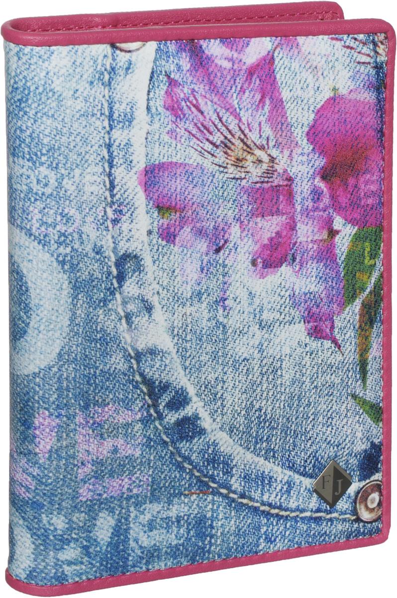 Обложка для паспорта и автодокументов женская Flioraj, цвет: голубой. 136-JeansНатуральная кожаУдобная и практичная обложка для паспорта и автодокументов от Flioraj выполнена из натуральной кожи высокого качества. Она украшена стильным фотопринтом в виде цветов на джинсовом фоне и пластиной с логотипом фирмы. Обложка содержит два прозрачных клапана для фиксации паспорта. Также внутри располагается съемный блок с файлами разного размера для автодокументов. Такая яркая и оригинальная обложка не только поможет сохранить внешний виддокументов, но и станет стильным аксессуаром, идеально подходящим вашему образу.Обложка для паспорта и автодокументов может стать отличным подарком.