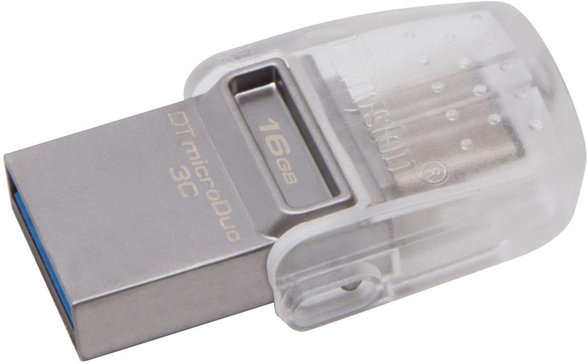 Kingston DataTraveler microDuo 3C 16GB USB-накопитель - Носители информации
