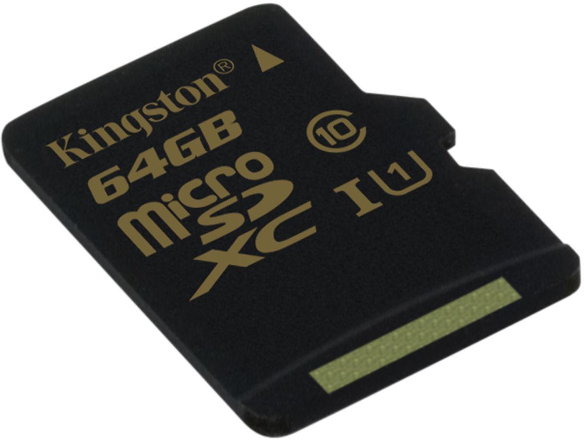Kingston microSDXC Class 10 UHS-I 64GB карта памяти (90/45 Мб/с) карта памяти 64gb kingston micro secure digital xc class 10 uhs i sdc10g2 64gb с переходником под sd