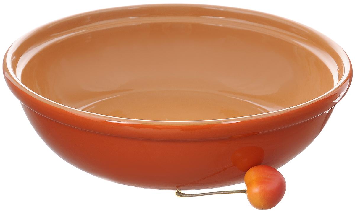 Салатник Борисовская керамика Модерн, цвет: оранжевый, желтый, 1 лРАД00000830_оранжевый, светло-коричневыйСалатник Борисовская керамика Модерн выполнен из высококачественной глазурованной керамики. Этот удобный салатник придется по вкусу любителям здоровой и полезной пищи. Благодаря современной удобной форме, изделие многофункционально и может использоваться хозяйками на кухне как в виде салатника, так и для запекания продуктов, с последующим хранением в нем приготовленной пищи. Посуда термостойкая. Можно использовать в духовке и микроволновой печи.Диаметр (по верхнему краю): 22 см.Высота стенки: 6 см.