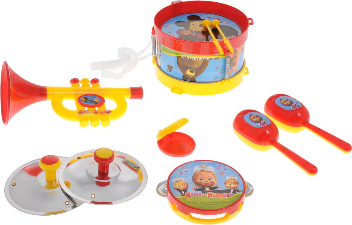 Играем вместе Набор музыкальных инструментов Маша и Медведь 10 предметов - Музыкальные инструменты
