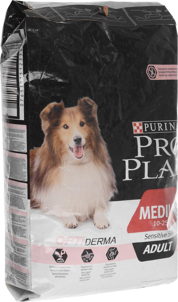 Корм сухой Pro Plan Adult Sensitive для собак с чувствительной кожей, с лососем и рисом, 7 кг корм сухой pro plan optihealth для собак мелких и карликовых пород с курицей и рисом 7 кг