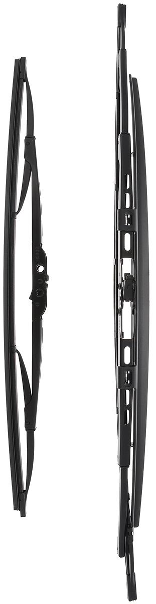 Щетка стеклоочистителя Bosch 291S, каркасная, со спойлером, длина 45/60 см, 2 шт3397010291Щетка Bosch 291S, выполненная по современной технологии из высококачественных материалов, оптимально подходит для замены оригинальных щеток, установленных на конвейере. Обеспечивает идеальную очистку стекла в любую погоду.TWIN Spoiler - серия классических каркасных щеток со спойлером. Эти щетки имеют полностью металлический каркас с двойной защитой от коррозии и сверхточный профиль резинового элемента с двумя чистящими кромками. Спойлер, выполненный в виде крыла, закрывает каркас щетки от воздушного потока.Комплектация: 2 шт.