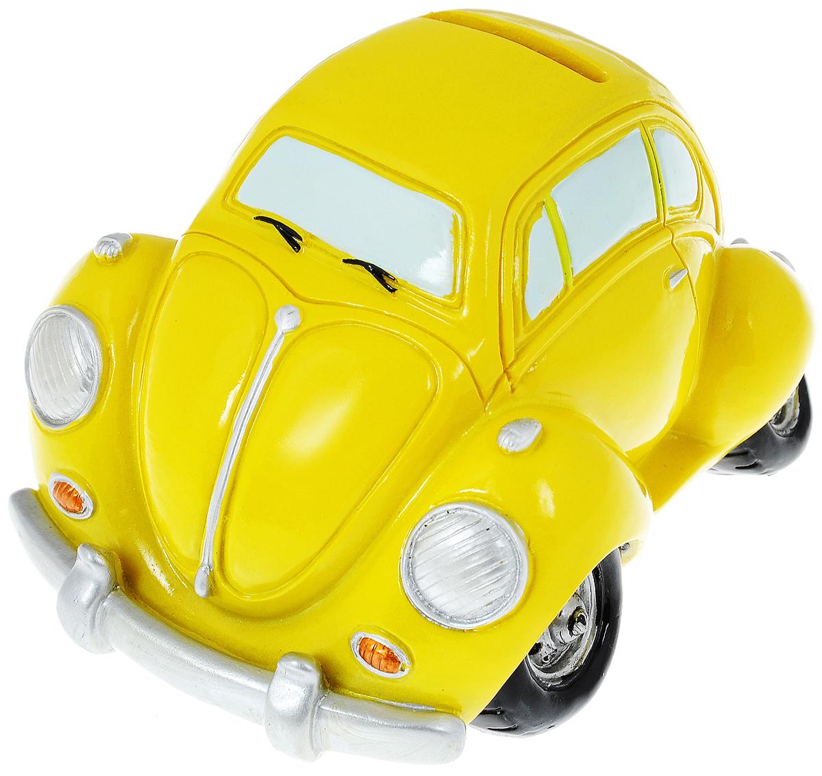 Копилка Miolla Машинка, цвет: желтыйRL36035_желтыйКопилка Miolla Машинка, изготовленная из высококачественной полирезины, станет отличным украшением интерьера вашего дома или офиса. Изделие оснащено отверстием для монет и удобным клапаном на дне, через который можно достать деньги. Яркий оригинальный дизайн сделает такую копилку прекрасным подарком. Она послужит не только по своему прямому назначению, но и красиво дополнит интерьер комнаты.