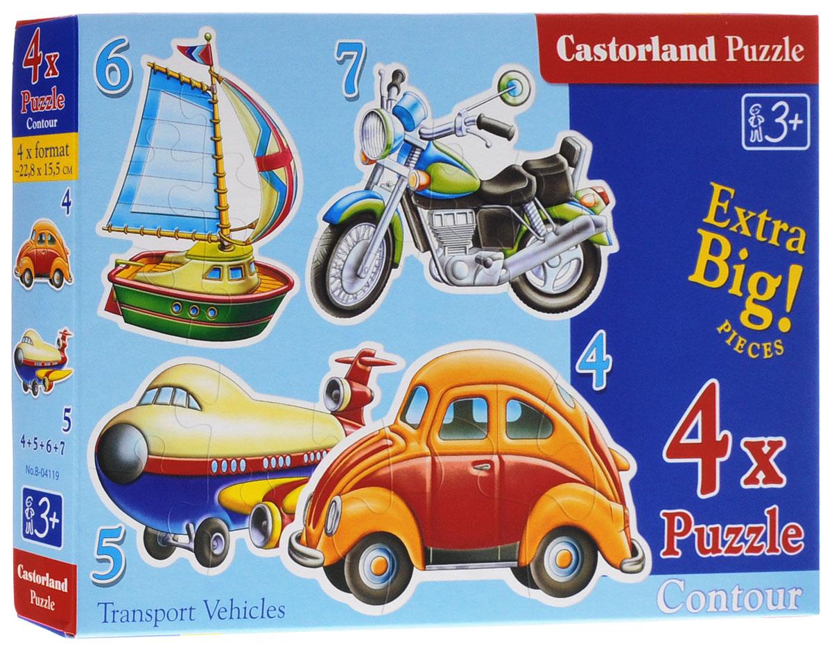Castorland Пазл для малышей Транспортные средства 4 в 1 castorland венецианский канал в италии