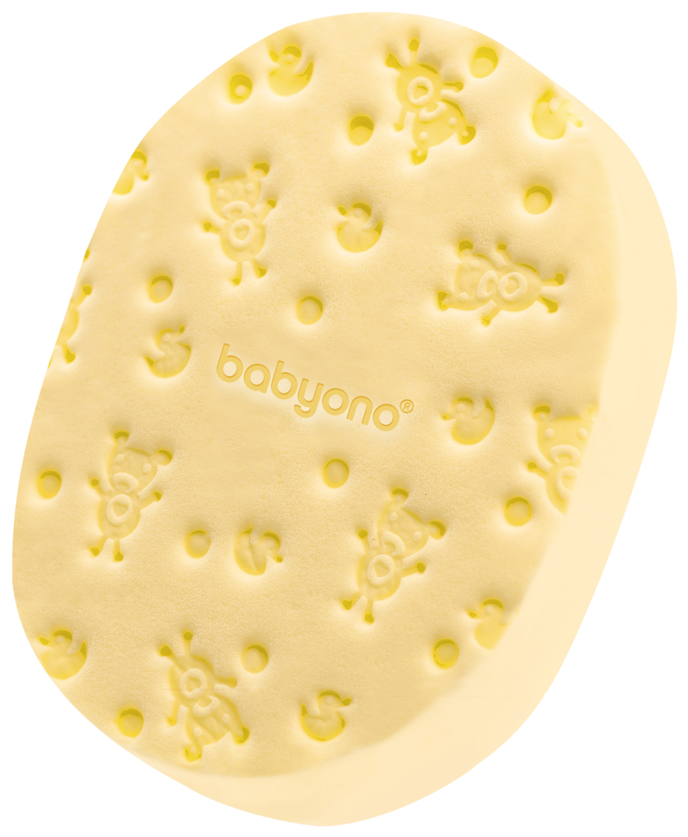 BabyOno Губка для купания Soft цвет желтый babyono мягкая кукла лили цвет коралловый