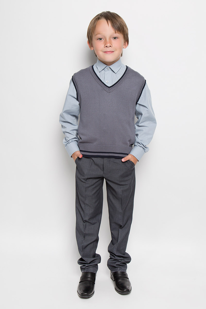Жилет для мальчика Nota Bene, цвет: серый меланж. CYV16003B-20. Размер 152