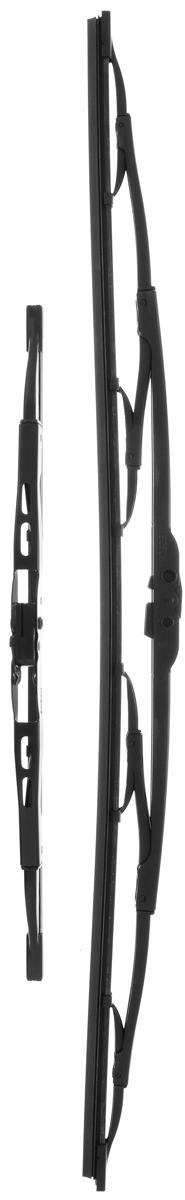 Щетка стеклоочистителя Bosch 605, каркасная, длина 60/34 см, 2 шт щетка стеклоочистителя bosch 601 каркасная 575 мм 400 мм 2 шт