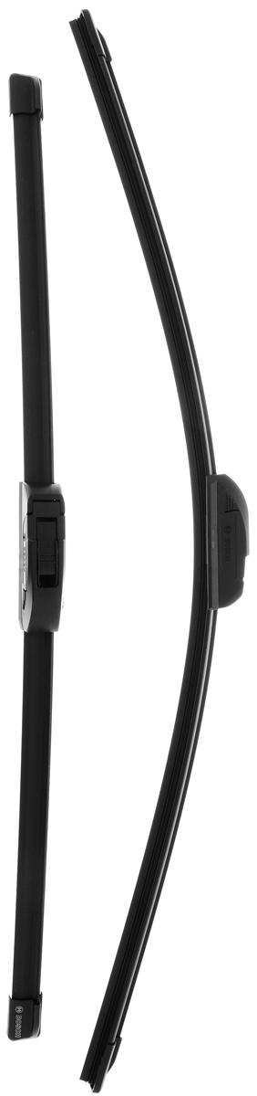 Щетка стеклоочистителя Bosch AR991S, бескаркасная, со спойлером, длина 57,5/65 см, 2 шт щетка стеклоочистителя bosch ar813s бескаркасная со спойлером длина 65 45 см 2 шт