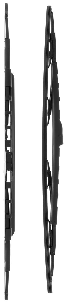 Щетка стеклоочистителя Bosch 046S, каркасная, со спойлером, длина 68 см, 2 шт3397005046Щетка Bosch 046S, выполненная по современной технологии из высококачественных материалов, оптимально подходит для замены оригинальных щеток, установленных на конвейере. Обеспечивает идеальную очистку стекла в любую погоду.TWIN Spoiler - серия классических каркасных щеток со спойлером. Эти щетки имеют полностью металлический каркас с двойной защитой от коррозии и сверхточный профиль резинового элемента с двумя чистящими кромками. Спойлер, выполненный в виде крыла, закрывает каркас щетки от воздушного потока.У данной модели спойлер предусмотрен на двух щетках стеклоочистителя.Комплектация: 2 шт.