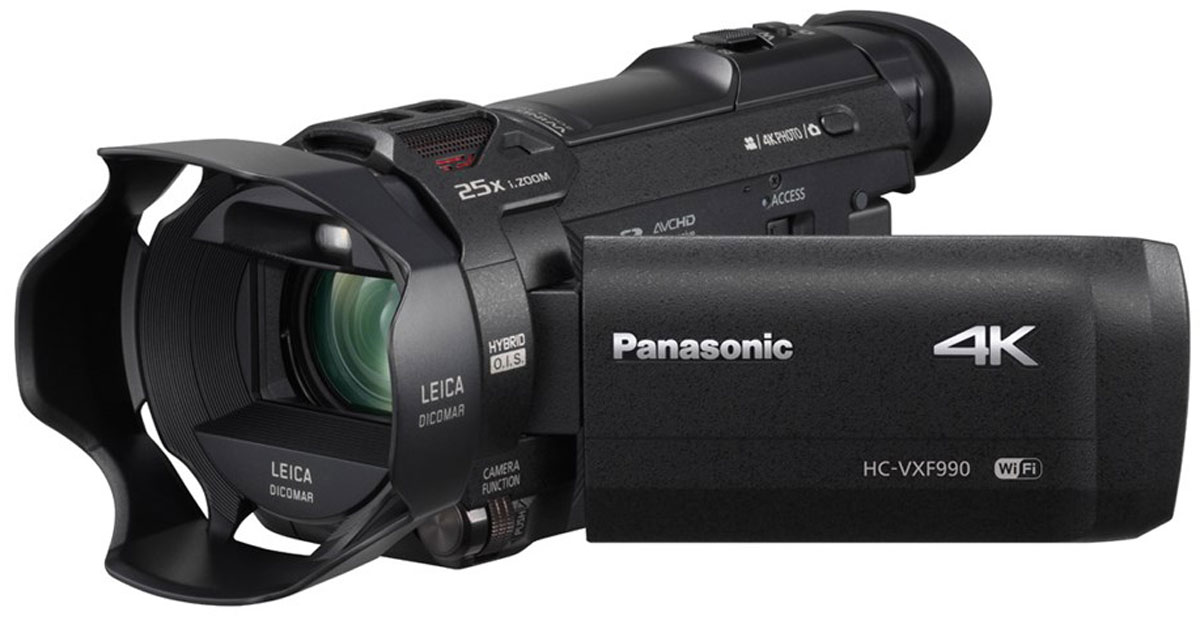 Panasonic HC-VXF990, Black 4K видеокамераHC-VXF990EEKЗапечатлейте всю красоту природы с помощью компактной видеокамеры Panasonic HC-VXF990 и ошеломляющего разрешения 4К. Создана для съемки впечатляющих кадров решающих моментов жизни с разрешением 4К и съемки видео профессионального качества. Сделать это теперь стало проще, чем когда-либо, благодаря высокоскоростному и высокоточному автофокусу - реальному прорыву к профессиональной 4К-съемке для всех, которого добилась компания Panasonic.Подходит и для энтузиастов, и для профессионаловСнимайте в любых условиях и получайте необходимый вам качественный результат. Электронный видоискатель (EVF) позволите легкостью снимать при ярком дневном сеете, помогая сохранить правильное восприятие. Механизм сдвига и наклона обеспечит гибкость для съемки из различных положений, а съемный наглазник делает процесс съемки удобным для любого глаза.Объектив с просветленной оптикойПомимо передачи четких изображений, этот замечательный объектив LEICA Dicomar отражает неуловимые оттенки и тона, чем так славятся объективы Leica, при минимальных засветках и ореолах.Точные сценыЗа счет увеличенной скорости считывания во время запей, продвинутый 8-мегапиксельный BSl-сенсор эферективно подавляет искажения, чтобы обеспечить точный рендеринг сцены.Процессор Crystal Engine 4КВысокоскоростной и производительный процессор Crystal Engine 4К, способен быстро и точно обрабатывать массивный объем данных 4 К. уменьшая при этом шумы.Добавьте в ваши видео дополнительные эмоцииНасладитесь новым стилем съемки, который позволит вам добавить еще больше эмоций в ваши фильмы. Используя Wi-Fi, вы можете подключить до трех смартфонов и записывать видео с двух из них в дополнительных окнах как картинка в картинке. Дополнительные окна можно менять местами и перемещать их положение на общем экране. Это позволит снимать с различных углов и точек обзора, чтобы добиться более высокого уровня эмоционального воздействия.Добейтесь чистых снимков с идеальной детализациейНасл