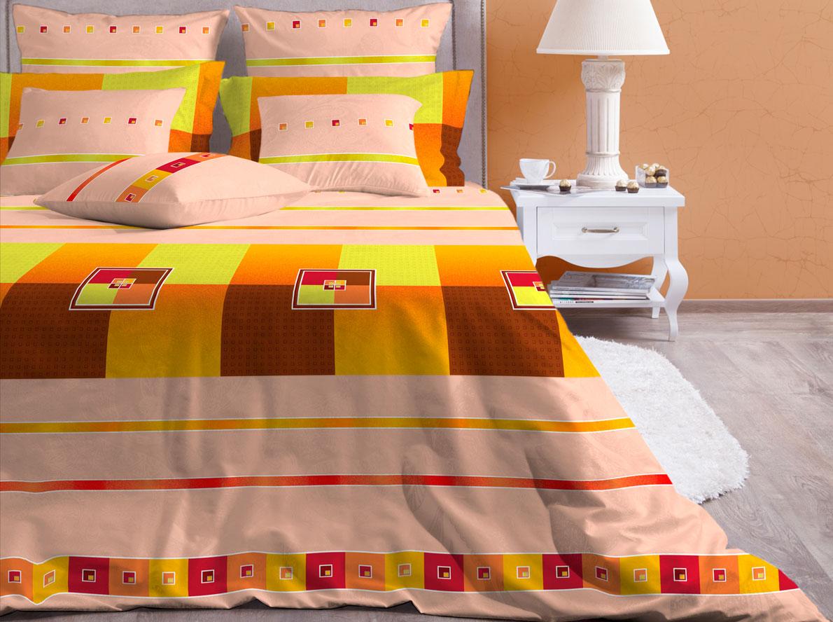 Комплект белья Хлопковый Край Теплый Дом, 2-спальный, наволочки 70х7020б-1ХКссКомплект постельного белья выполнен из качественной бязи и украшен оригинальным рисунком. Комплект состоит из пододеяльника, простыни и двух наволочек.Бязь представляет из себя хлопчатобумажную матовую ткань (не блестит). Главные отличия переплетения: оно плотное, нити толстые и частые. Из-за этого материал очень прочный и практичный.Постельное белье Хлопковый Край экологичное, гипоаллергенное, оно легко стирается и гладится, не сильно мнется и выдерживает очень много стирок, при этом сохраняя яркость цвета и рисунка.
