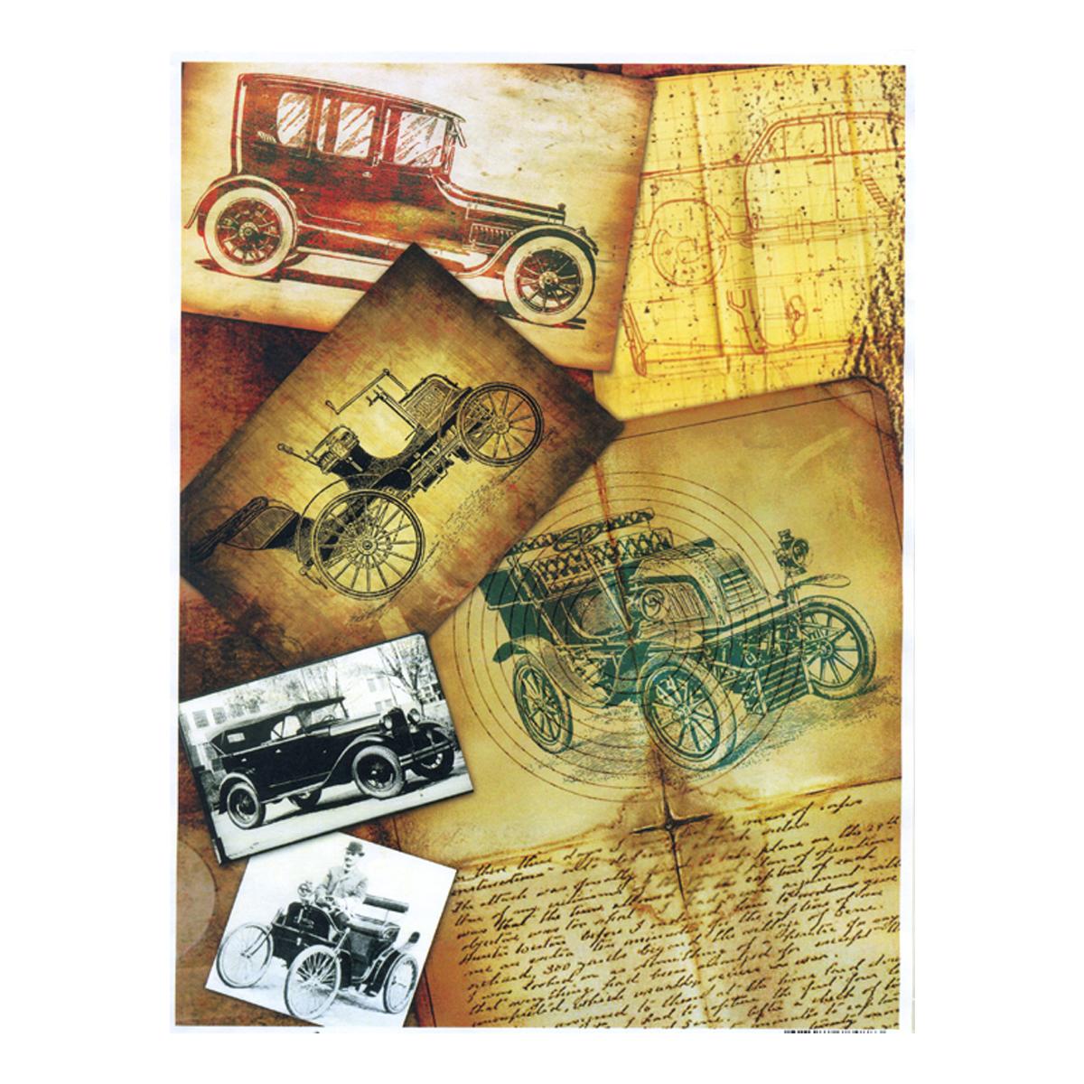 Декупажная карта Freedecor Первые автомобили, А4, 70 гр./м.кв. Dk 3038685686_3038первыеавтомобилиДекупажная карта - оригинальная специальная бумага с нанесенным рисунком для использования в технике декупажа. Интересные мотивы, изображенные на бумаге, сделают процесс рукоделия занятным.