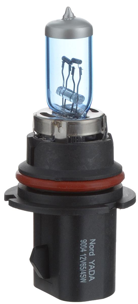 Лампа автомобильная галогенная Nord YADA Super White, цоколь HB1 (9004), 12V, 65/45W800022Лампа автомобильная галогенная Nord YADA Super White - это электрическая галогенная лампа с вольфрамовой нитью для автомобилей и других моторных транспортных средств. Виброустойчива, надежна, имеет долгий срок службы. Галогенные лампы предназначены для использования в фарах ближнего, дальнего и противотуманного света. Лампа имеет голубое напыление на колбе, что дает более белый лунный свет. Данная характеристика помогает лучше освещать дорогу для водителей и делает автомобиль более заметным на трассах.