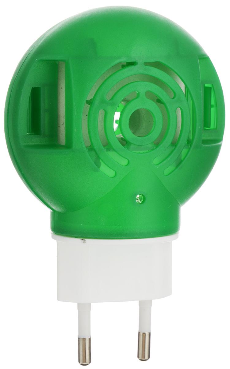 Фумигатор Argus, универсальный, с индикаторомСЗ.010025_зеленый, белыйУниверсальный фумигатор Argus используется для уничтожения летающих насекомых в помещениях, методом фумигации, то есть выделения паров инсектицидов.Фумигатор имеет поворотную вилку, позволяющую использовать даже в неудобно расположенных розетках. Изделие можно использовать как с пластинами, так и с дополнительными флаконами.