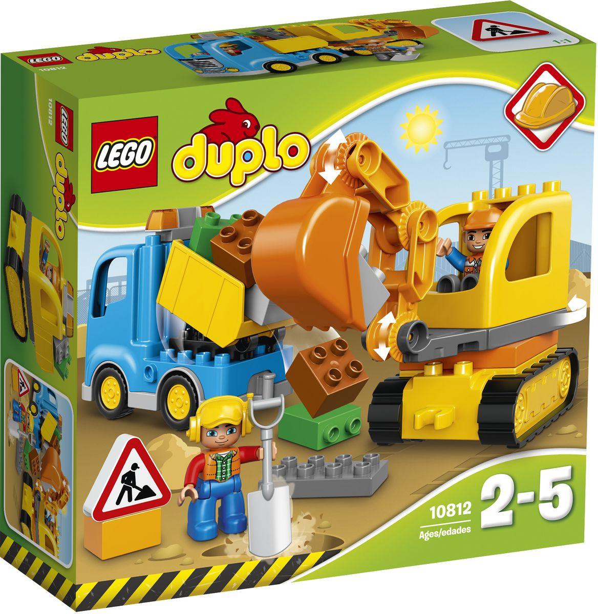 LEGO DUPLO Конструктор Грузовик и гусеничный экскаватор 10812 lego duplo конструктор гоночный автомобиль 10589
