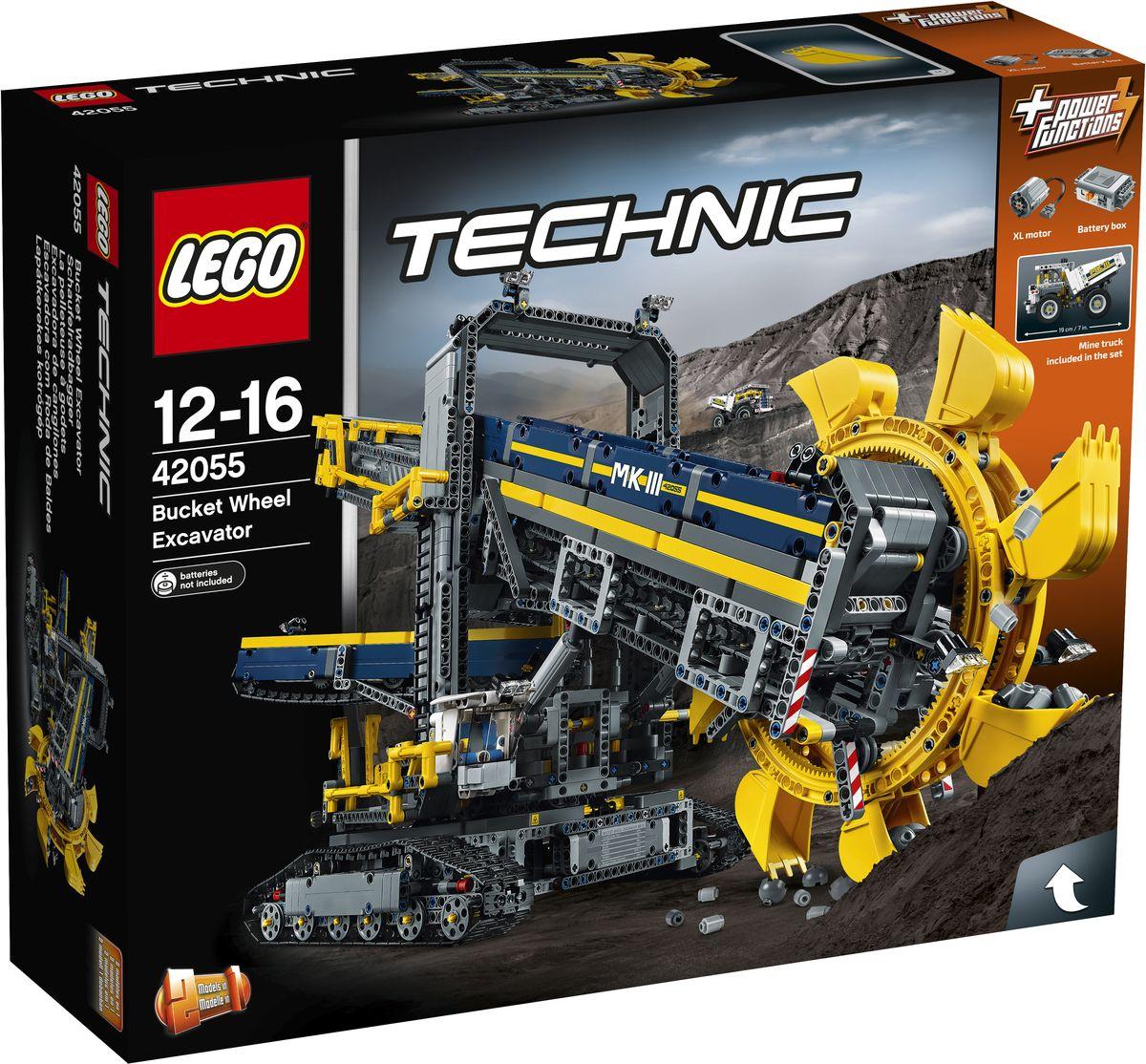 LEGO Technic Конструктор Роторный экскаватор 42055 конструктор lego technic дорожная техника 42060
