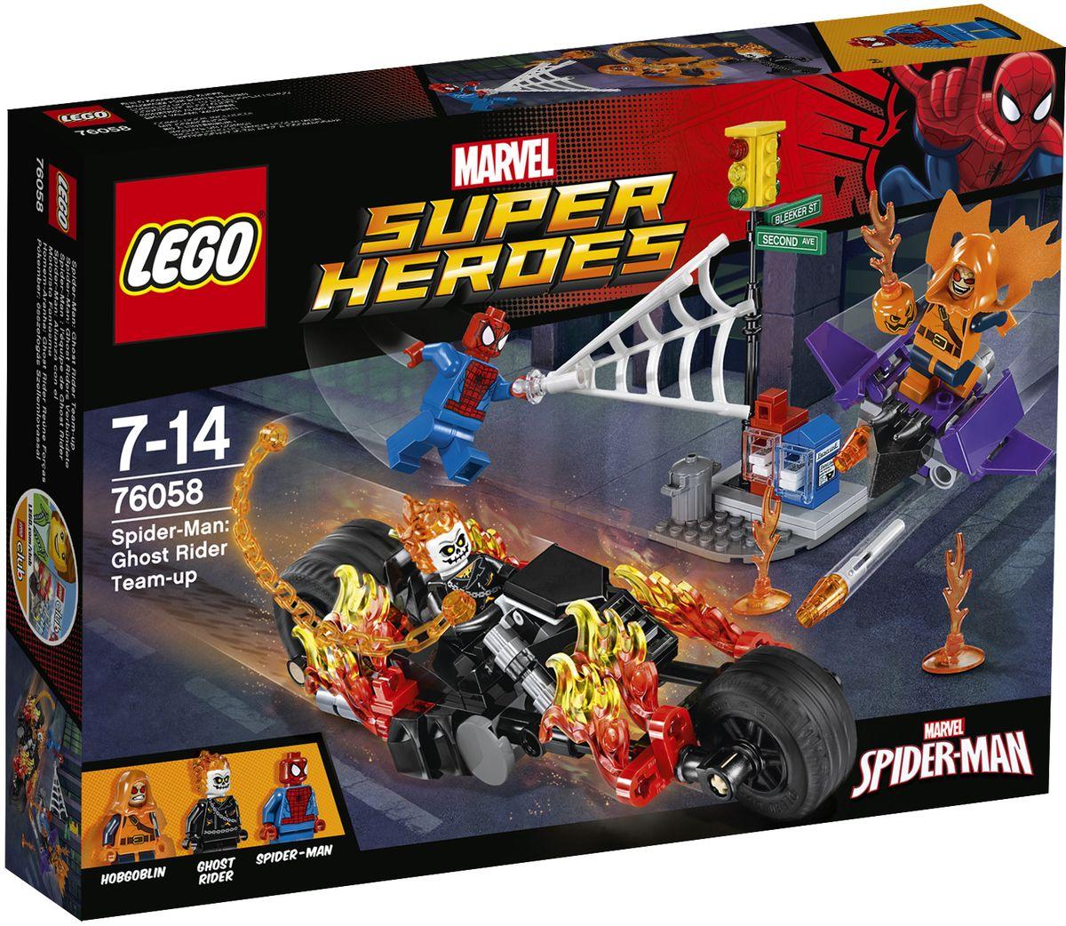 LEGO Super Heroes Конструктор Человек-паук Союз с Призрачным гонщиком 76058 картинки человека паука лего