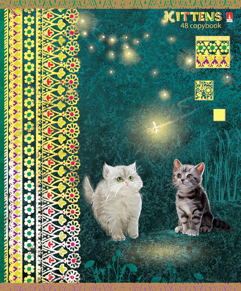 Альт Тетрадь Кошки-мышки 48 листов в клетку вид 37-48-624Тетрадь Альт Кошки-мышки отлично подойдет для занятий школьнику,студенту или для различных записей.Обложка тетради с закругленными уголками выполнена из качественного экологически чистого картона и покрыта гибридным лаком. Лицевая сторона оформлена изображением белого и серого котенка, смотрящих на светлячка.Внутренний блок тетради, соединенный двумя металлическими скрепками, состоит из 48 листов первосортной бумаги белого цвета формата А5. Четкая линовка точно совпадает с обеих сторон каждого листа. Поля отмечены красным цветом.Вне зависимости от породы очарование и трогательность этих малышей не оставят равнодушными взрослых и детей.