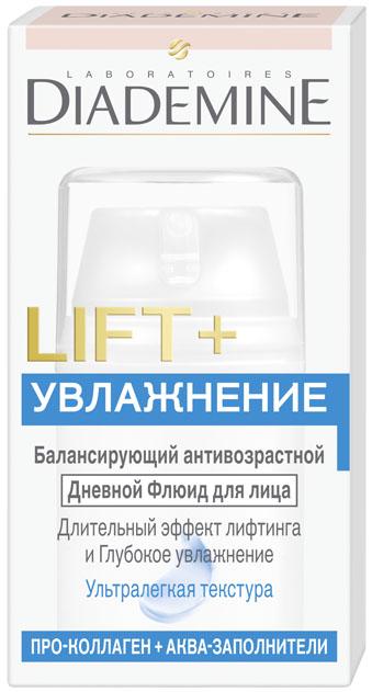 Diademine LIFT+Увлажнение Флюид для лица, 50 мл2083499LIFT+ УВЛАЖНЕНИЕ Дневной Флюид, разработан специально для смешанной кожи и сочетает 2 мощных антивозрастных действия: Формула с Про-Коллагеном воздействует на 5 наиболее важных типов кол-лагена в коже, укрепляя его структурную сеть. В результате достигается эффект лифтинга и повышается упругость кожи.Аква-Заполнители и Гиалурон способствуют естественному восполнению запаса влаги, придавая коже свежесть, мягкость и более здоровый вид.