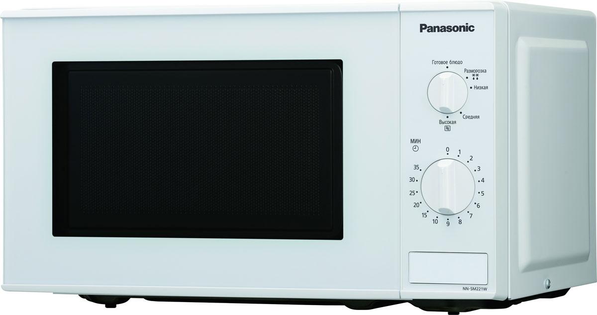 Panasonic NN-SM221WZTE микроволновая печьNN-SM221WZTEПростая и надежная в обращении новая микроволновая печь Panasonic NN-SM221WZTE с механическим управлением поможет вам сэкономить ваше драгоценное время. Она быстро разогреет любое блюдо или разморозит необходимый продукт. Экологически чистый материал корпуса и рабочей камеры - эмалированная сталь, гарантирует полезность ваших блюд, а белый цвет корпуса украсит любую кухню.Диаметр поддона: 25,5 смПоворотные переключатели